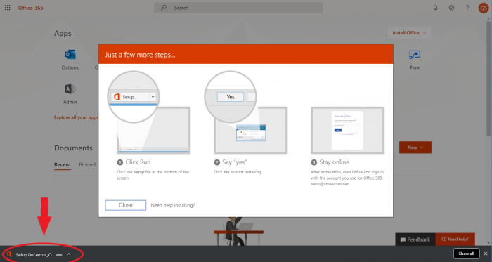 Step 3 Download/Install O365 Apps